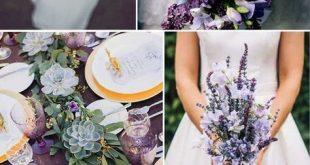 2018 BRIDES FAVORITE WEEDING COLOR: STYLISH SHADE OF PURPLE - Wedding Invites Pa...