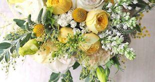 Traumhafter, großer Brautstrauß in Gelb und Weiß l #brautstrauß #hochzeit