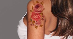 Mary Vintage Pink Flower Temporary Tattoo