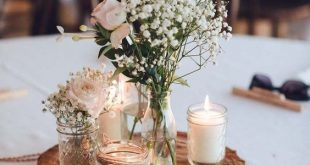 A Relaxed Garden Soiree Wedding In Kiama. A mixture of flowers and candles delic...