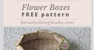 Flower Box Tutorial-free download - templates for square, hexagonal and octagonal boxes/ via @getagrama
