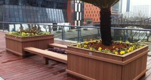 quality wood flower boxes France,Toulon, composite decking flower boxes Germany...