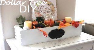 DOLLAR TREE DIY FLOWER BOX CENTERPIECE FALL DECOR 2018  FARMHOUSE DECOR - YouTub...