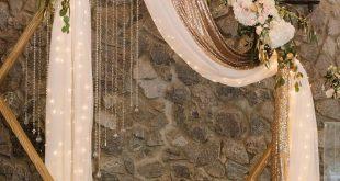 Elegante moderne Trauung Bogen Hintergrund #Hochzeiten #Hochzeit Hintergrund