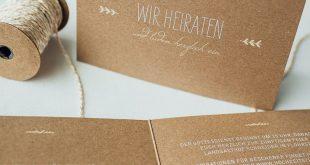 """Hochzeitseinladung """"Rustic Love Kraftpapier"""""""