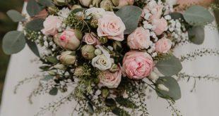Bridal bouquet eucalyptus fall autumn