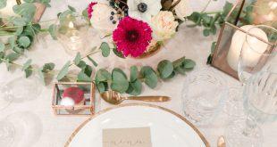 Dekoration | Tischdeko | Kupfer | rustikal | Hochzeit | Blumen | Kerzen | Eukaly...