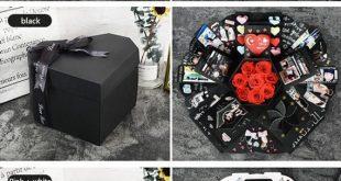 EBG-Love caja de explosión, DIY hecho a mano álbum de fotos de personalización, pareja creativa regalo de cumpleaños romántico, álbum de fotos y Scrapbook