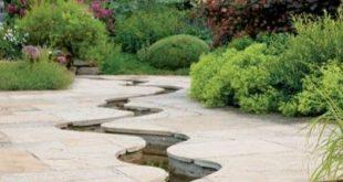 Patio Stream Garden, Ideen. pation, hinterhof, diy, gemüse, blume, kraut, container, palette, hütte, geheimnis, im freien,