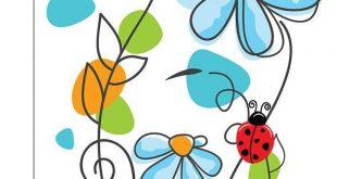 Teen Girl Room Wall Decal, Flower Wall Decal, Floral Wall Decal, Nursery Wall Decals, Nursery Wall Stickers, Wall Decals Nursery 04-0009