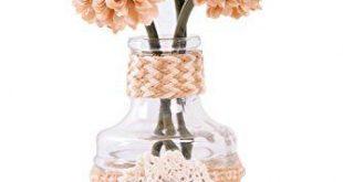 UIKKOT Artificial Fake Flowers Silk Bouquet Roses in Plastic Vase Sturdy Bottom ...