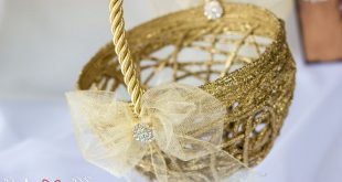 Unique Gold Flower Girl Basket, Gold Wedding Decor, Bridesmaid Basket For Wedding, Woven Basket, Flowergirl Basket, Baby Gift Basket, Brides